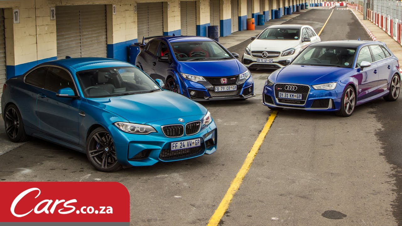 Innovative Track Race BMW M2 Vs Mercedes A45 Vs Audi RS3 Vs Honda