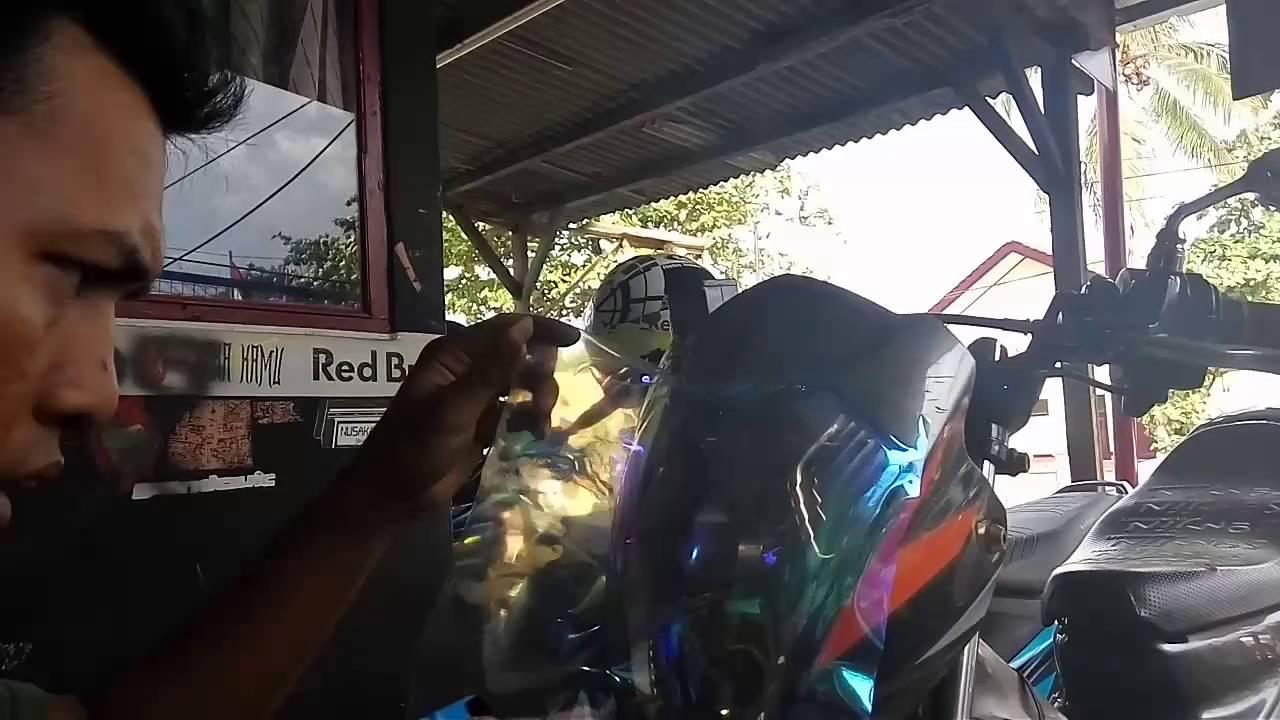 pemasagan sricker pelangi lampu satria FU Cikarang bekasi Nusakambangan sticker by Nusakambangan Sticker