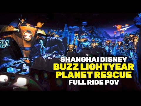 NEW FULL Buzz Lightyear Planet Rescue ride at Shanghai Disneyland