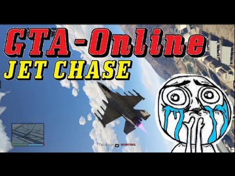 GTA V ONLINE - JET CHASE - BEST ONLINE MISSION - DetunedCreepers