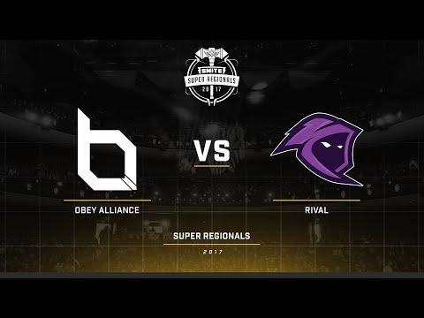 Smite Super Regionals 2017 EU Finals Obey Alliance vs Team Rival Game 1