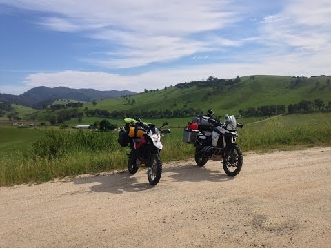 BMW F800GS Gelantipy Road just after Buchan Victoria towards Jindabyne