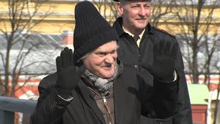Юрий Куклачев произвел полуденный выстрел в Петербурге