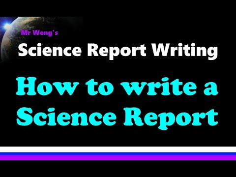 How to write a science report