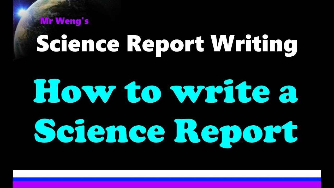 Writing science reports