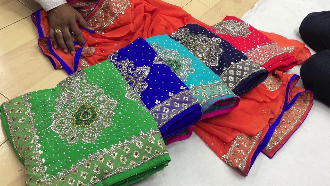 f0e65f35b2 latest designer stone work sari for wedding and bridal surat saree in  wholesale price5