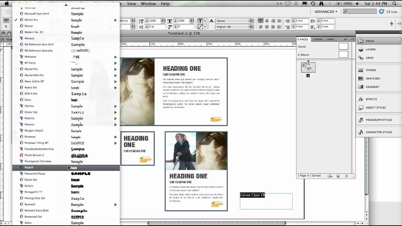 how to save individual pdf pages in indesign