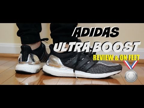 8a41755645d Adidas Ultra Boost Olympics Silver Review   On Feet - YouTube
