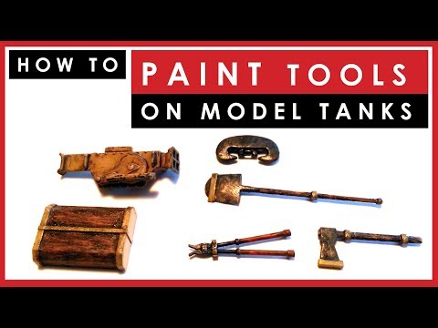 How to paint and weather TOOLS on scale model tanks and armor