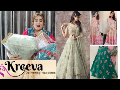 Designer Long Anarkali , Princess Lehenga. Mehendi Lehenga/ KREEVA Haul / SWATI BHAMBRA