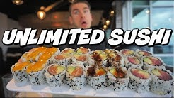 ALL YOU CAN EAT SUSHI VS COMPETITIVE EATER | DESTROYING HUNDREDS OF SUSHI | Man Vs Food