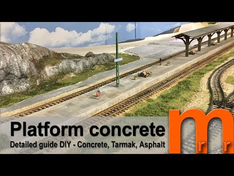Model Concrete platform for Model Railroad or diorama