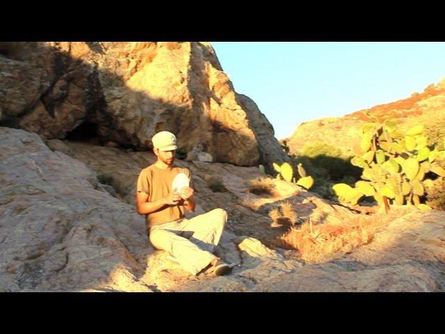 Armin Metz on a drum skin + triggered sounds ° desert Sympla hang out (real-time trigger skills #3)