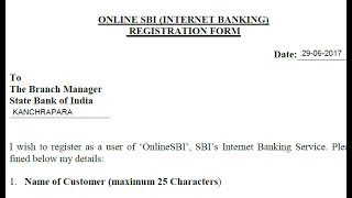 online sbi internet banking registration form fill up    simplified in hindi