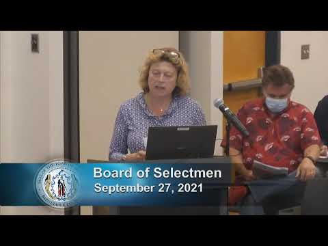 Board of Selectmen 9-27-21