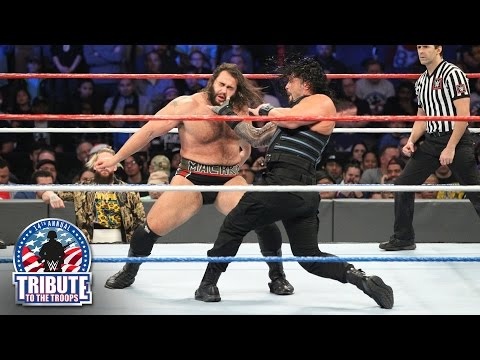 Roman Reigns & Big Cass vs. Kevin Owens & Rusev: Tribute to the Troops, Dec. 14, 2016