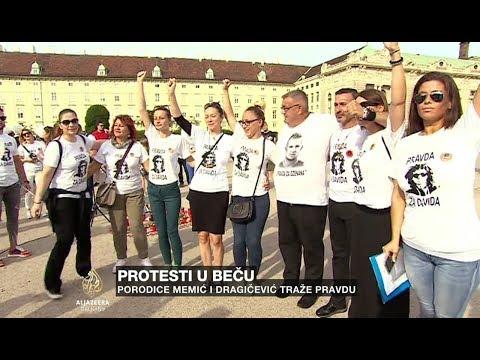 Protesti u Beču: Porodice Memić i Dragičević traže pravdu