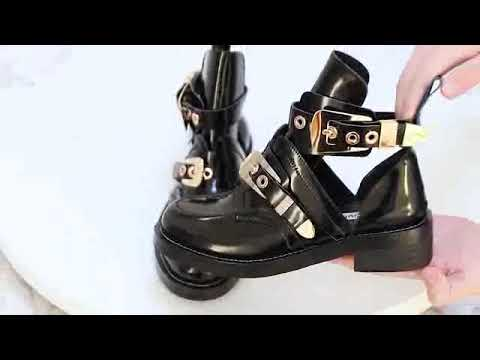 612ff7ace66 Exclusive - CRUSH Black Cutout Boots - Gold Buckles - JESSICABUURMAN ...