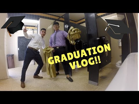 Graduation Vlog - FootHill High School 2017 (Had to sneak in the camera)