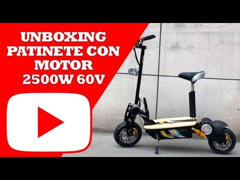 74bbf505a0c ✅ [Unboxing] Patinete Eléctrico con Asiento 2500W 60V 🛴 ⚡| Fotona Mobility