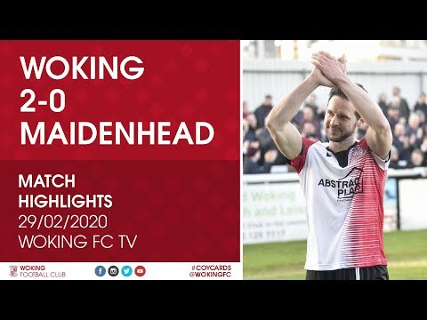 Woking Maidenhead Goals And Highlights