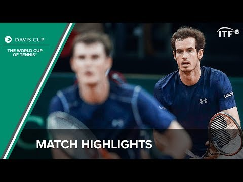 Highlights: Steve Darcis/David Goffin (BEL) v Andy Murray/Jamie Murray (GBR)