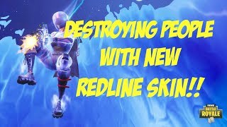 *NEW* REDLINE SKIN GAMEPLAY!! Fortnite Redline Skin Gameplay