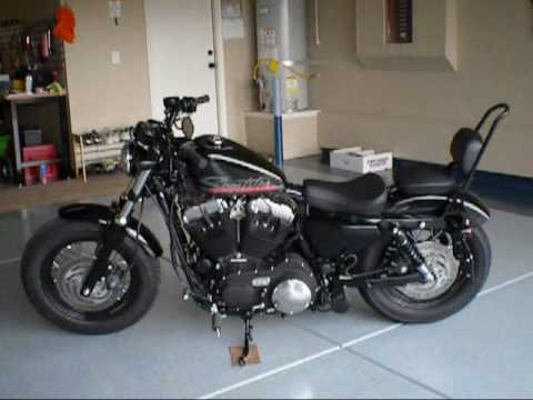 2010 Hd Sportster 48 Sissy Bar In Gloss Black For Two Up