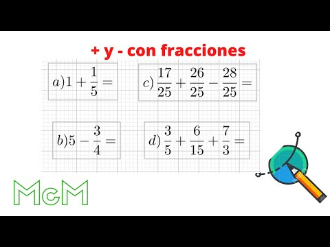 Sumas, restas, multiplicación y división de fracciones. Mica.