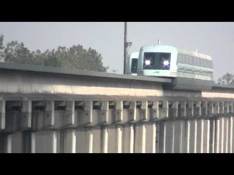 Shanghai Maglev Passes By Overpass At 300 km/h