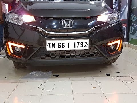 New Honda Jazz Front Fog Lamp Drl Light Exterior Modified Accessories