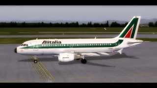 HD FSX-Alitalia Roma to Milano