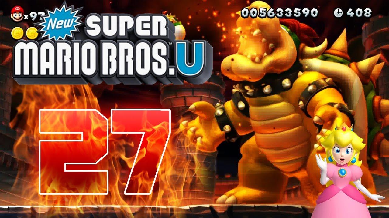 Let S Play New Super Mario Bros U Part 27 Final Bowser Bowser