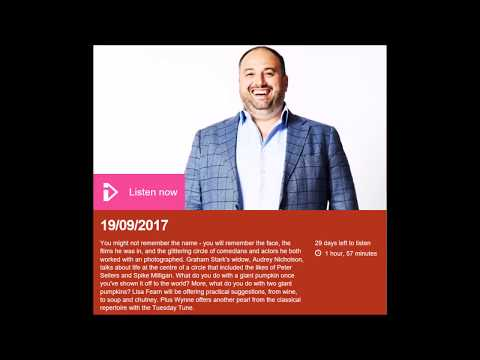 """""""Marrow Chat"""", Lisa Fearn, The Wynne Evans Show, BBC Radio Wales, 19th Sept 2017"""