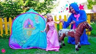 Rapunzel es Princesa para el baile con el Hada Madrina de Cenicienta - Vídeos infantiles