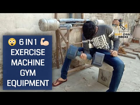 All Gym Equipment's In One Setup | DIY Gym Equipment's At Home (EASY)