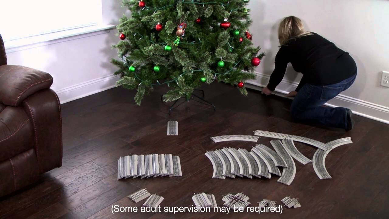 Easy Christmas Tree Track Set-Up