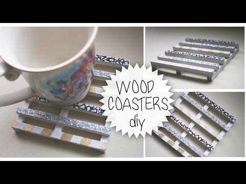 BEAUTIFUL WOOD COASTERS DIY!!! (Tutorial)