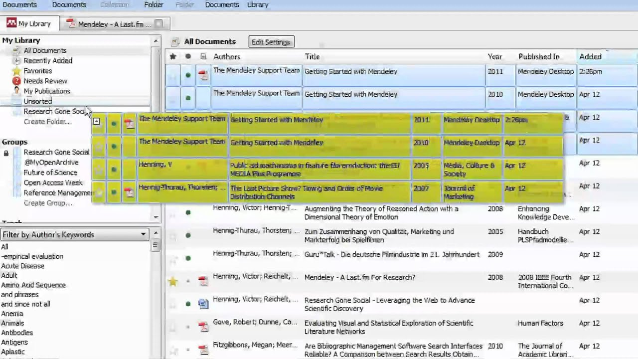 Organizing Your Library Mendeley Minute Youtube