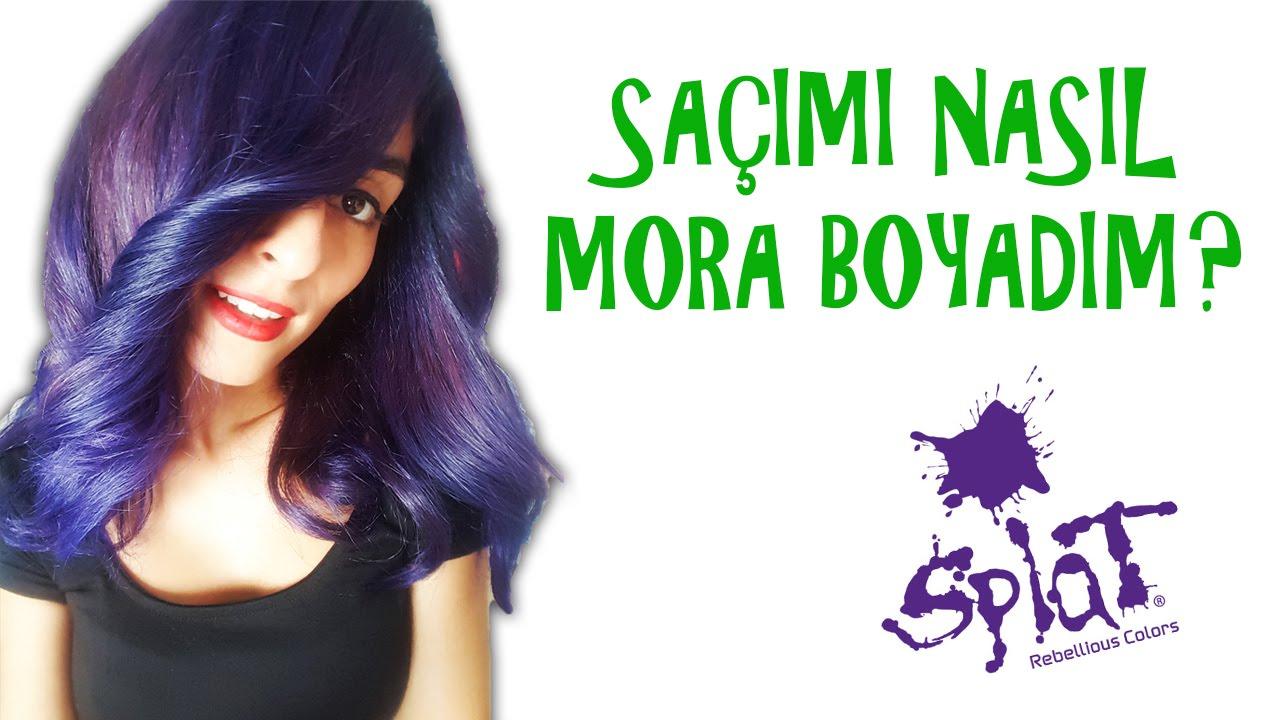 Sacimi Nasil Mora Boyadim I Splat Purple Desire I Kapak Kizi Youtube