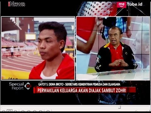 Zohri Akan Bertemu Presiden Jokowi Secara Langsung - Special Report 13/07