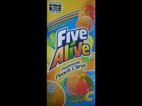 Five Alive P Ionate Peach Citrus 1l 2017