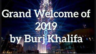 New Year 2019 Grand Celebration Fireworks at Burj Khalifa Dubai UAE