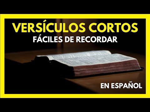 Versículos De La Biblia Cortos y Fáciles de Aprender