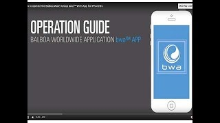how to operate the balboa water group bwa wi fi app for iphone s