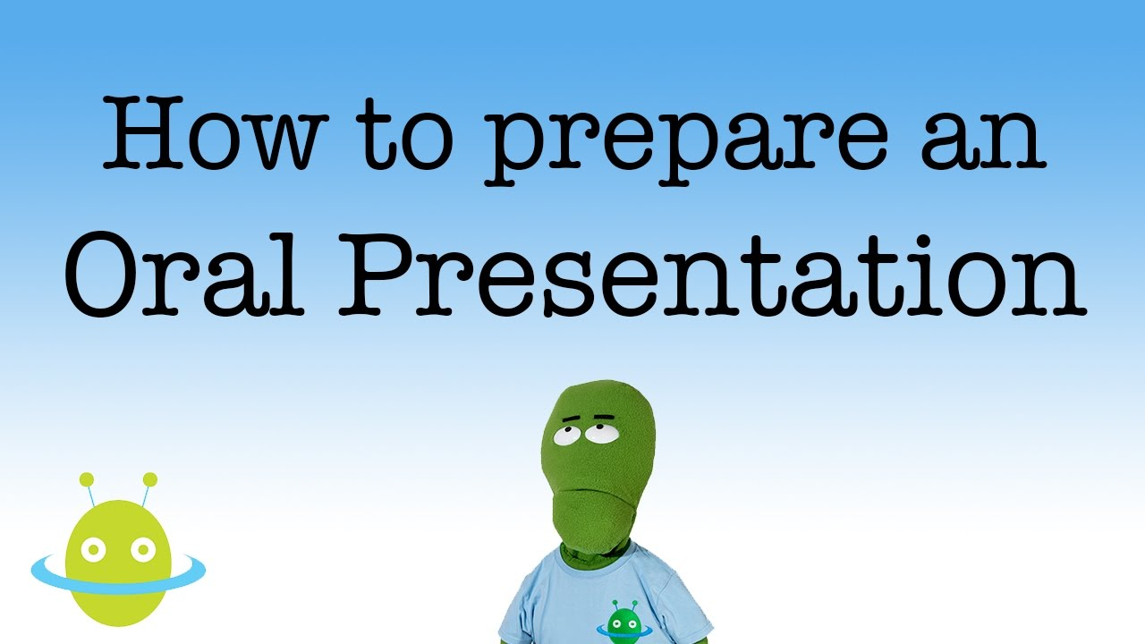 how to prepare your oral presentation youtube