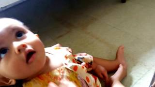 Cute Little Baby Yagni Playing With Sticker  | Funny | 20140720 130704