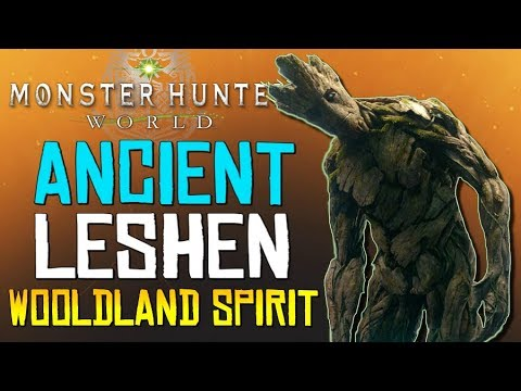 "Monster Hunter World - ""Ancient Groot"".. These Jagras Are OP!  (Woodland Spirit - Ancient Leshen) thumbnail"