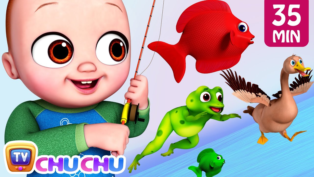 Baby Goes Fishing Song + More ChuChu TV Baby Nursery Rhymes & Kids Songs