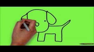 Как нарисовать собаку за 20 секунд(С помощью этого видео Вы сможете нарисовать собачку ребёнку карандашом легко и быстро. А малыш сможет раскр..., 2014-02-07T04:47:14.000Z)